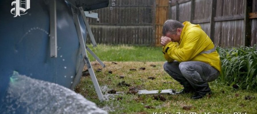 Man Is So Devastated by What He Finds in His Above Ground Pool, He Tears It Down with a Hammer