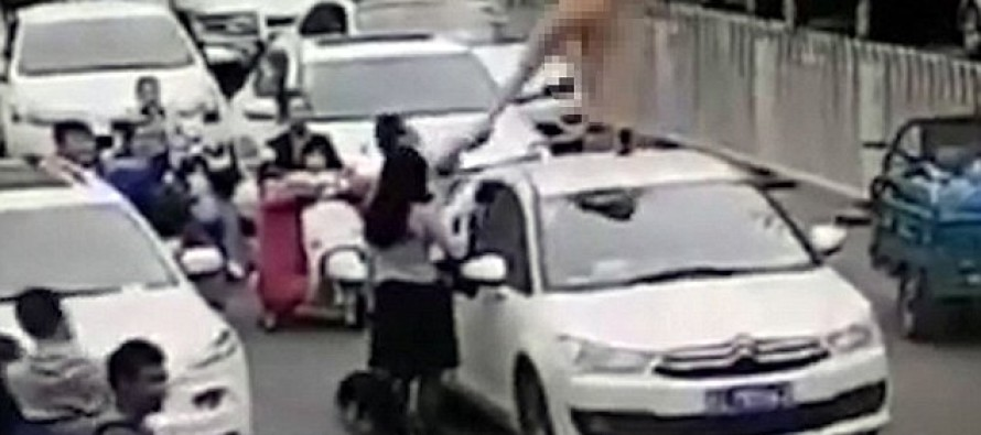 VIDEO: Naked And In Heels, Woman Dances On Top Of Stranger's Car…He's Ticked Off, Does THIS!