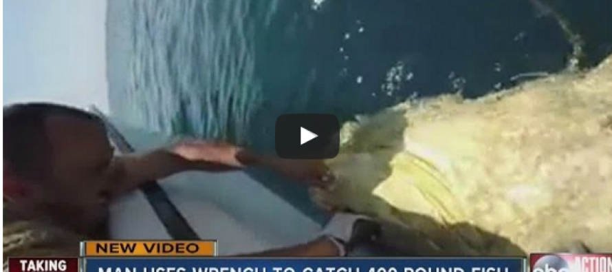 Watch This Man Catch a 400-Pound Fish… WITH A WRENCH!