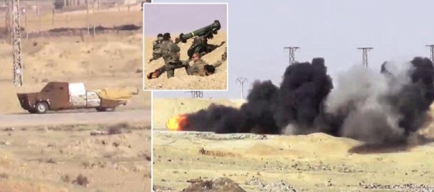 VIDEO: Brits Use a Javelin Anti-Tank Missile to Take Out a Speeding 'Mad-Max-Style' ISIS Car Bomb