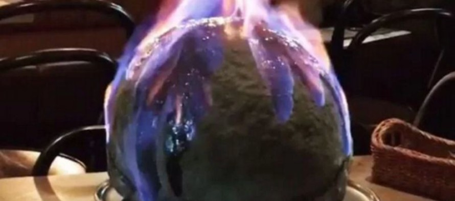 Restaurant Creates a Viral Food Trend With a Flaming Dome Pizza [VIDEO]