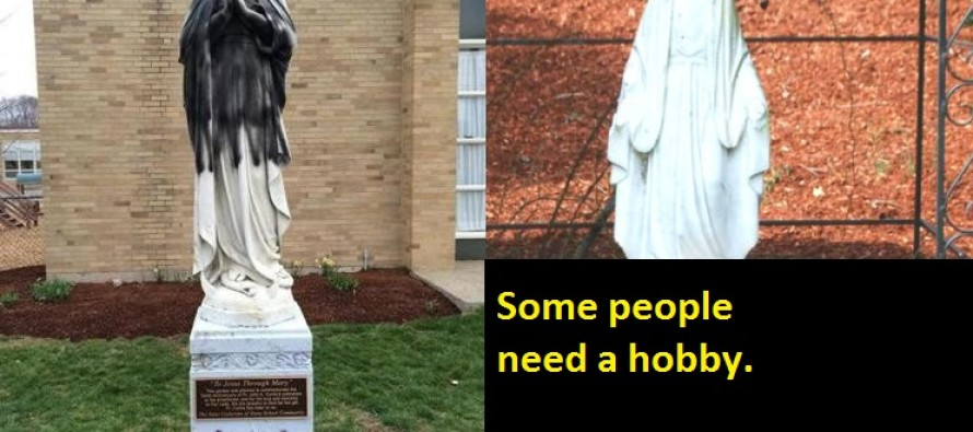 """Virgin Mary statues BEHEADED and vandalized with """"Allah"""""""