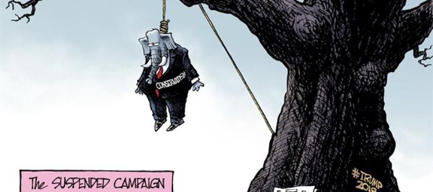 Suspended Campaign (Cartoon)