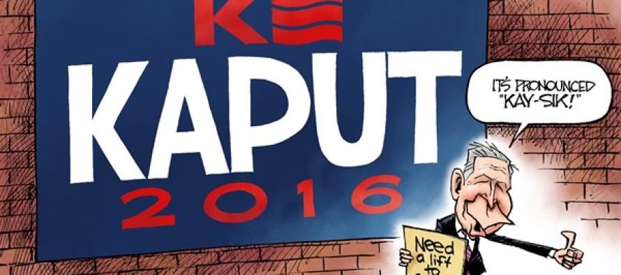 Quits for Kasich (Cartoon)