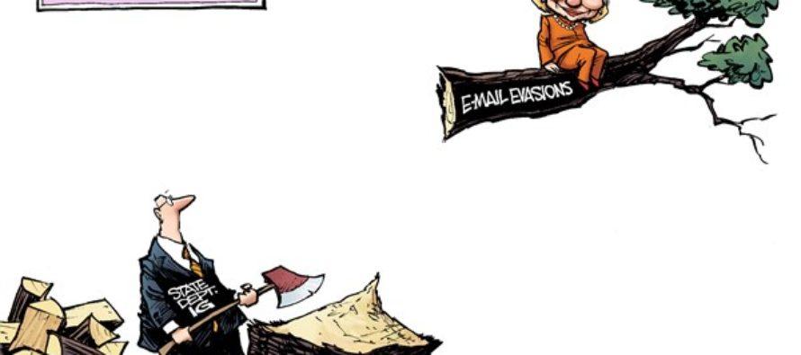 Hillary Up a Tree (Cartoon)