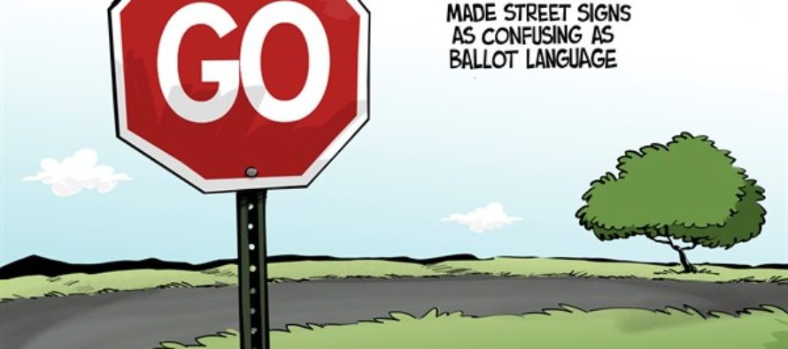 TEXAS ballot language (Cartoon)