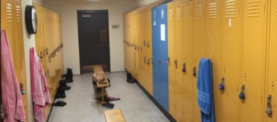 MAN STANDS NAKED in a GIRL'S LOCKER ROOM at a High School. No Problem. [VIDEO]