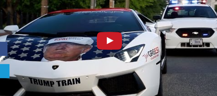 Guy Parks Trump-Themed Lamborghini in Front of White House… Then THIS Happens