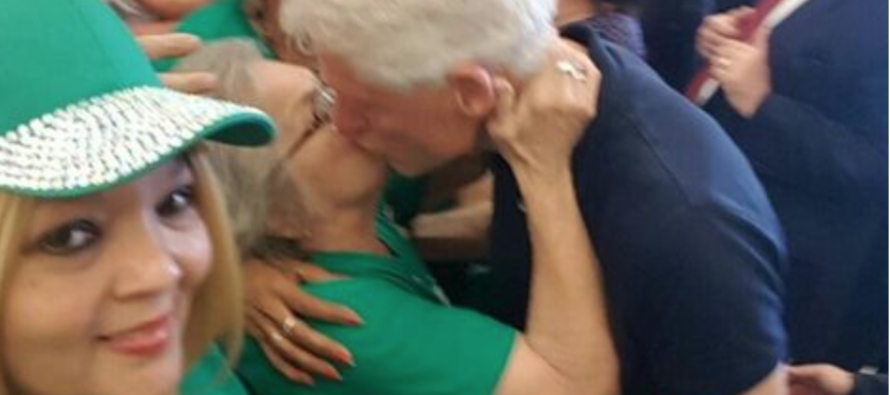 Bill Clinton Caught on Tape KISSING Another Woman