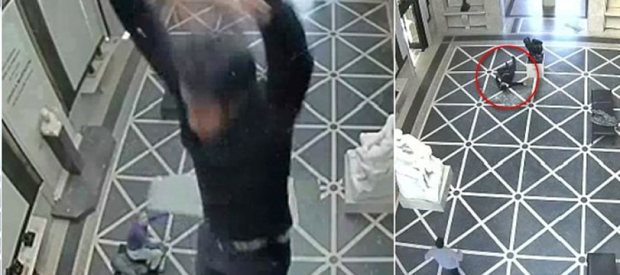 Terrifying Moment Engineer Falls 40 Feet Through Glass Ceiling [VIDEO]
