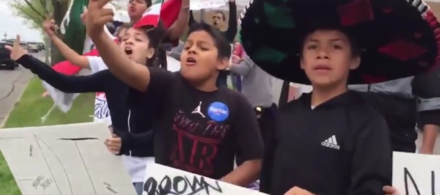 VIDEO: Vulgar Children Curse At Trump Supporters