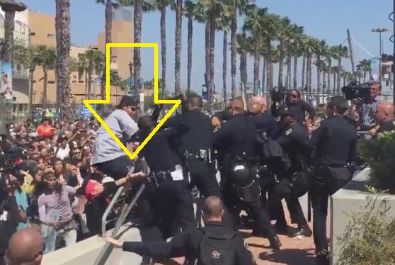 thug protestor