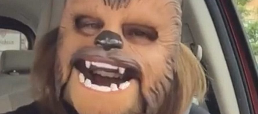 The Whole World is Cracking Up Over This Woman in Her Wookie Mask