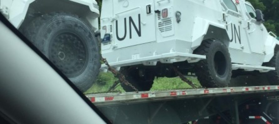 ALERT: Military UN Vehicles Spotted on US Interstate… [VIEW]