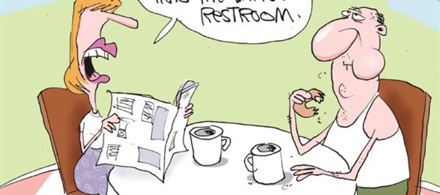 Gorillas In Target Bathrooms (Cartoon)
