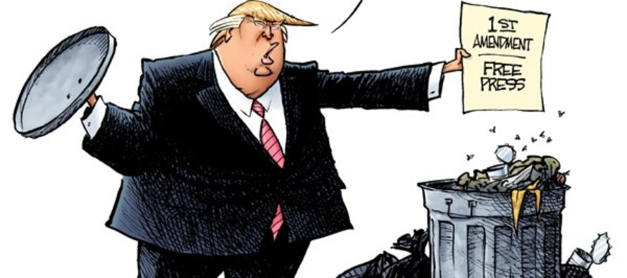 Trump Donations (Cartoon)