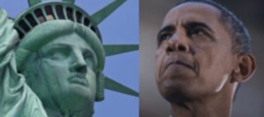 Obama Makes SICKENING Announcement About the Statue of Liberty