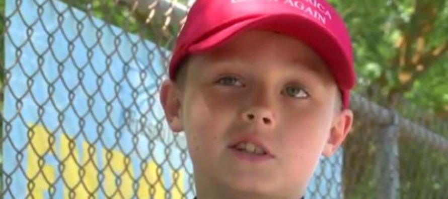 "9 Year-Old is Banned From Wearing Trump ""Make America Great Again"" Hat In School [VIDEO]"