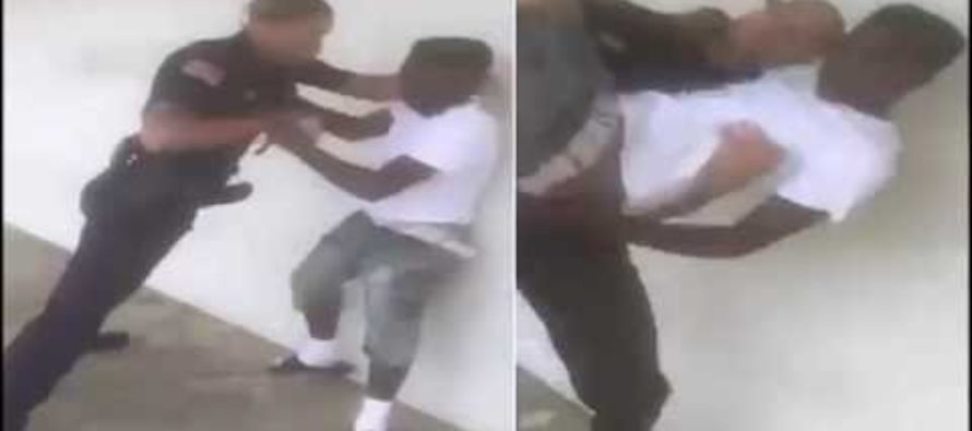 VIDEO: Cop Takes All the Fight Out of a Resisting Punk With a Body Slam