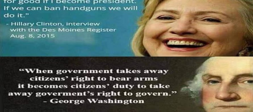 Hillary Clinton Is After YOUR Second Amendment Rights – AND the NRA [Meme]