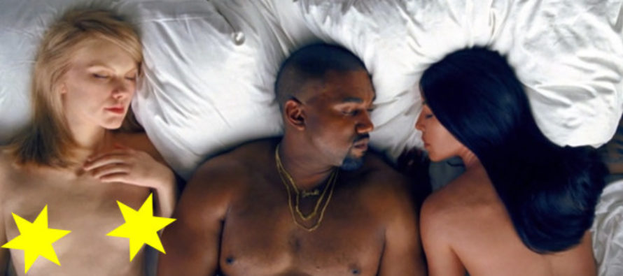 """Kanye West shows two of the best know Republicans NAKED in Bed with WOMEN in His """"FAMOUS"""" Video"""