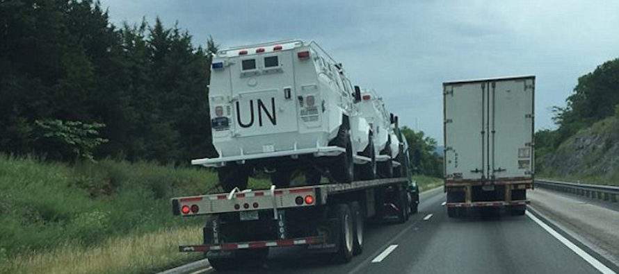 The Truth Is Revealed About UN Vehicles Spotted on Highway