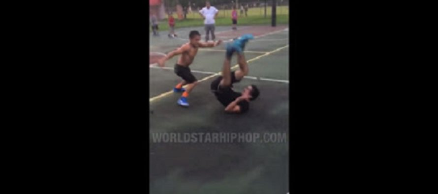 Fight VIDEO: Smaller guy pulls off the POWER SLAM on the cement