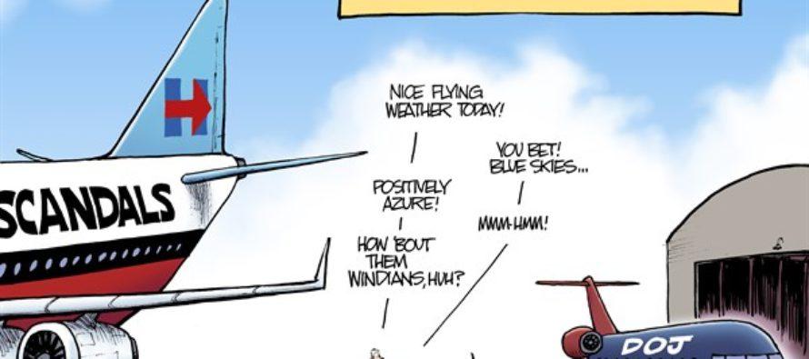 Tarmac Meeting (Cartoon)