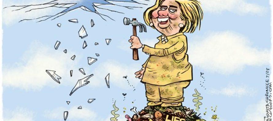 Hillary Glass Ceiling (Cartoon)