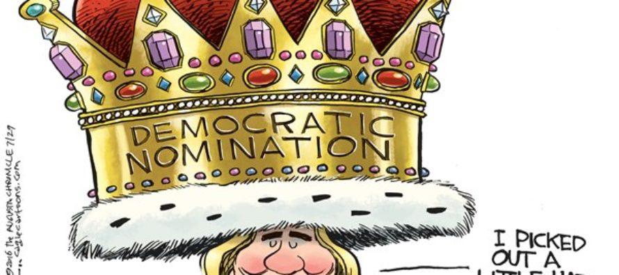 Hillary Coronation (Cartoon)