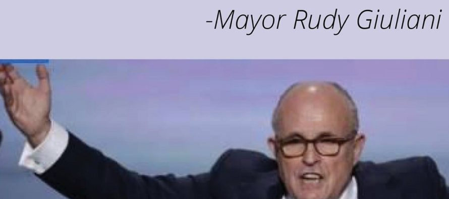 Rudy Giuliani SLAMS BlackLivesMatter With Some Much Needed COMMON SENSE! [MEME]