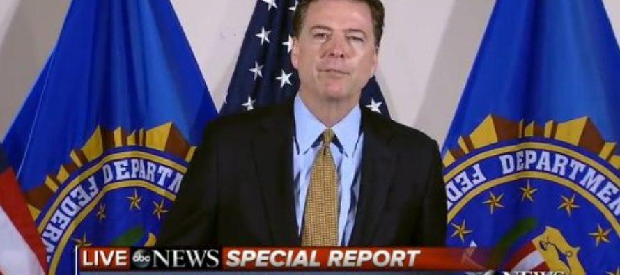 BREAKING: FBI Director Announces Official Verdict for Hillary [VIDEO]