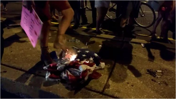 DNC-flag-burning