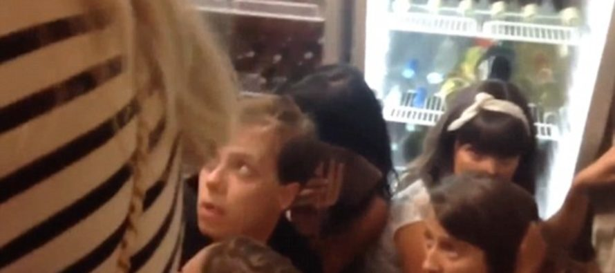 Terrifying Footage Captures People Hiding In Diner As Horror Unfolds! [VIDEO]