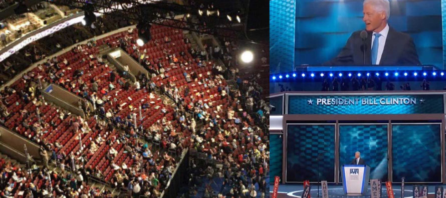 Half the Democrats walked out of DNC, so guess where they got people to fill the seats? [VIDEO]