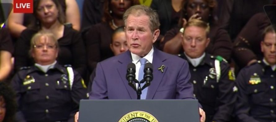 Unlike Barack Obama, George W. Bush's Speech at Dallas Officers Memorial Was All Class [VIDEO]