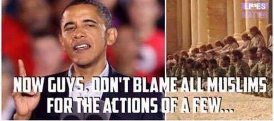 Obama's Clueless Behavior On Law Enforcement Vs Muslims Is SICK [Meme] [VIDEO]