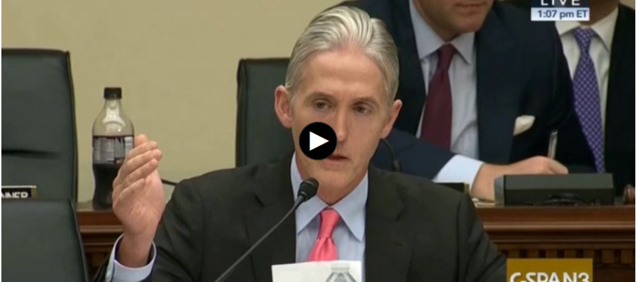 Trey Gowdy Puts AG Lynch on the Hot Seat–and Nails Her Hypocrisy with this Question [VIDEO]