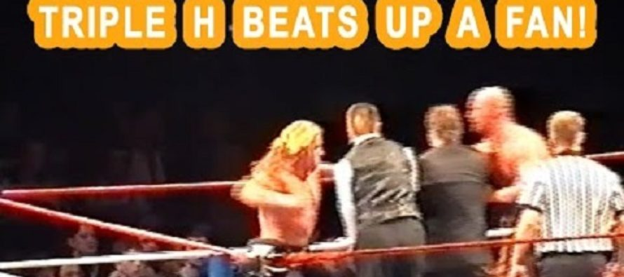 Old Video Shows Ref & WWE Wrestler Triple H Brutally Beat A Fan Who Sneaks Up On Steve Austin