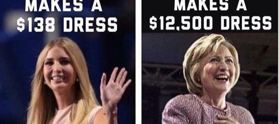 There Was One KEY Difference Between Hillary And Ivanka That Says A LOT! [MEME]