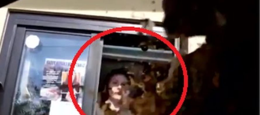 VIDEO: The Perfect Moment a McDonald's Drive-Thru Girl Throws Large Coke Over Driver After He Did This