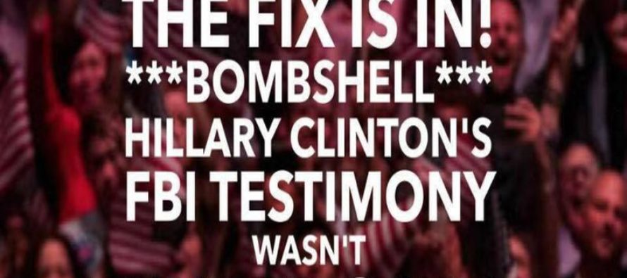SHOCKER: Hillary's Testimony With the FBI – and the ONE Detail They Forgot…[Meme] [VIDEO]