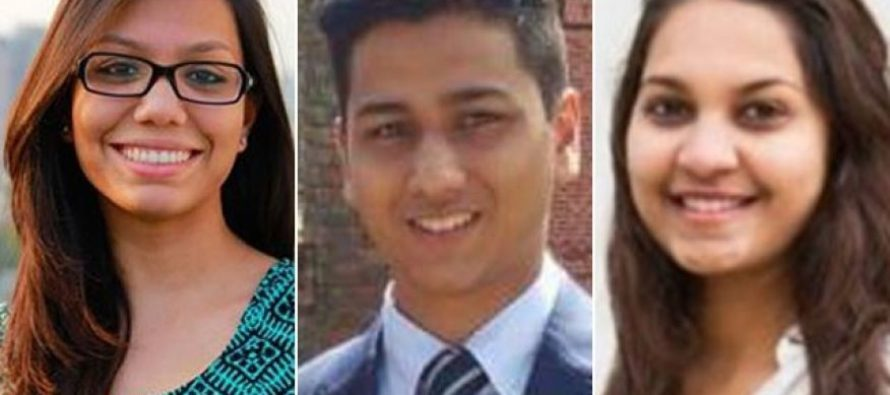 Three US college students murdered by terrorists