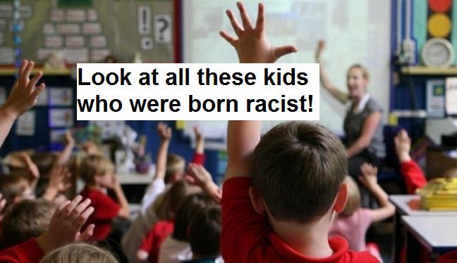 white kids born racist