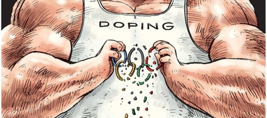 Olympic doping (Cartoon)