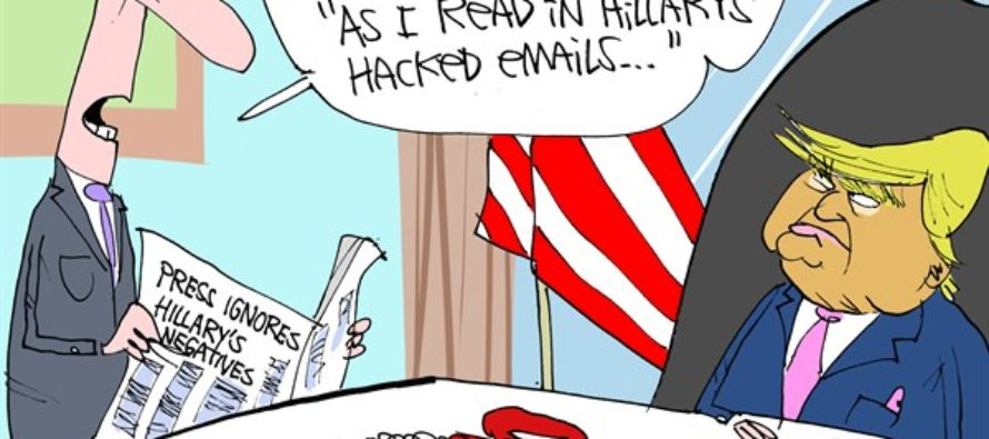 Hillary's Emails Ignored (Cartoon)