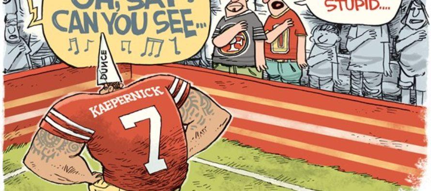 Kaepernick Sits (Cartoon)