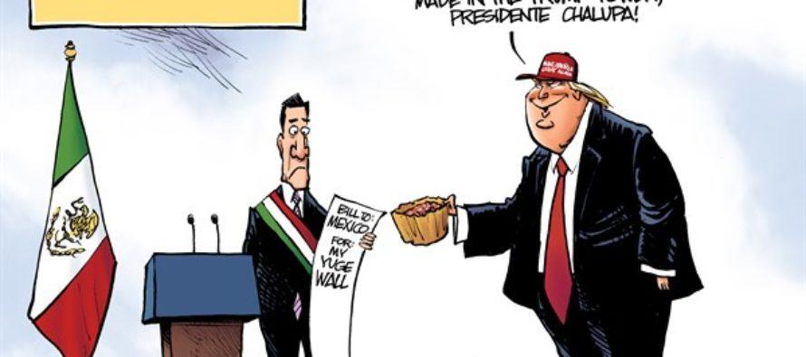 Trump Visits Mexico (Cartoon)