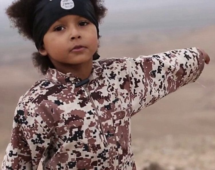 In January this year Isa Dare, a five-year-old British boy dubbed 'Jihadi Junior' featured in an ISIS video. He shouted: 'We will kill the kuffar [non-believers]' before ISIS fighters executed several prisoners. His mother, Grace Dare, from Lewisham, south east London, is believed to have taken him to join ISIS