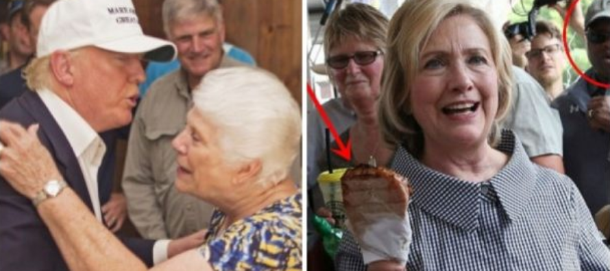 Trump Donates $100k To Flood Victims, Hillary's Caught In ONE Sick Display [VIDEO]